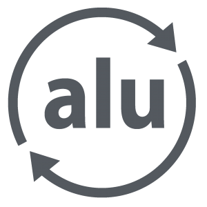 Logo de recyclage de l'aluminium