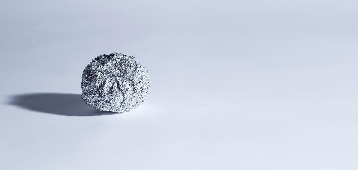 boule aluminium chiffonné