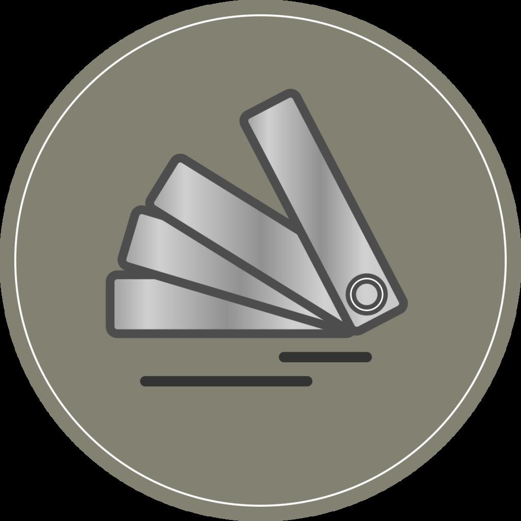 icône représentant un nuancier